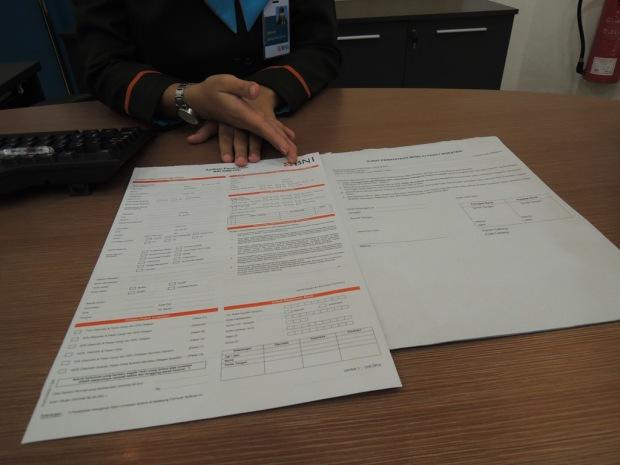 Pulang dari KCP BNI bawa formulir ini :D hehe