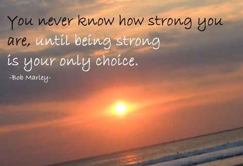 Quote of Being Strong