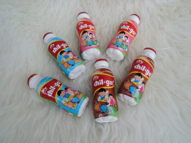 Morinaga Chil-Go! punya tiga varian rasa: Vanila, Coklat dan Strawbery.