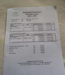 Biaya Pendidikan Kinderland Pulomas