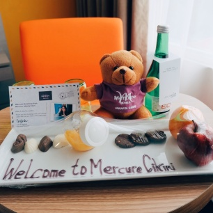 Welcome message from the Mercure Jakarta Cikini GM. Such a sweet gestures!